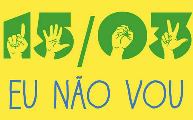 Meme contra a manifestação anti-Dilma.