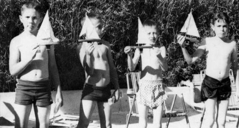 Meninos internato, na década de 1950.