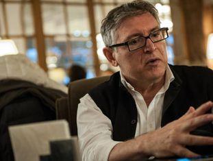 Michel Onfray durante uma entrevista em Deauville (França)