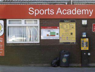 O centro de treinamento do Crewe, onde Andy Woodward sofreu os abusos.