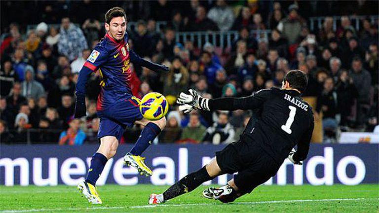 Messi vence Iraizoz em um duelo desta temporada