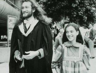 Mauro Ferrari com sua primeira mulher, Marialuisa, em Berkeley, em 1987, quando tinham 28 e 25 anos.