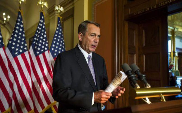 O líder republicano John Boehner, nesta sexta-feira.
