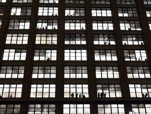 Fachada de um prédio de apartamentos em Nova York.