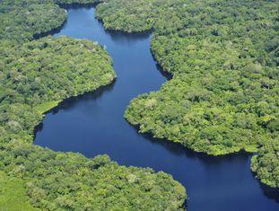 O rio Amazonas atravessa Brasil, Peru e Colômbia, ao longo de seus quase 6.500 quilômetros.