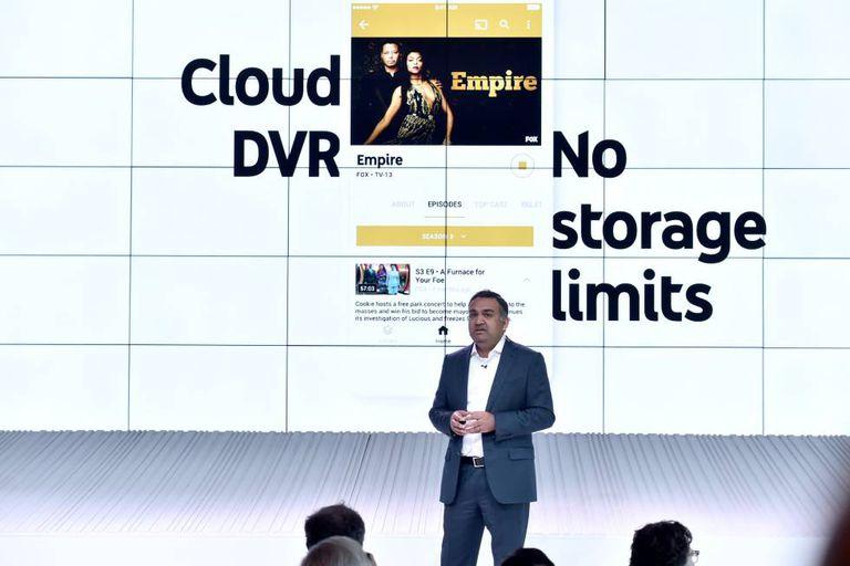 Neal Mohan, do Youtube, durante a apresentação do produto em Los Angeles.