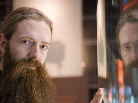 Aubrey de Grey, no museu Cosmocaixa, em Barcelona.