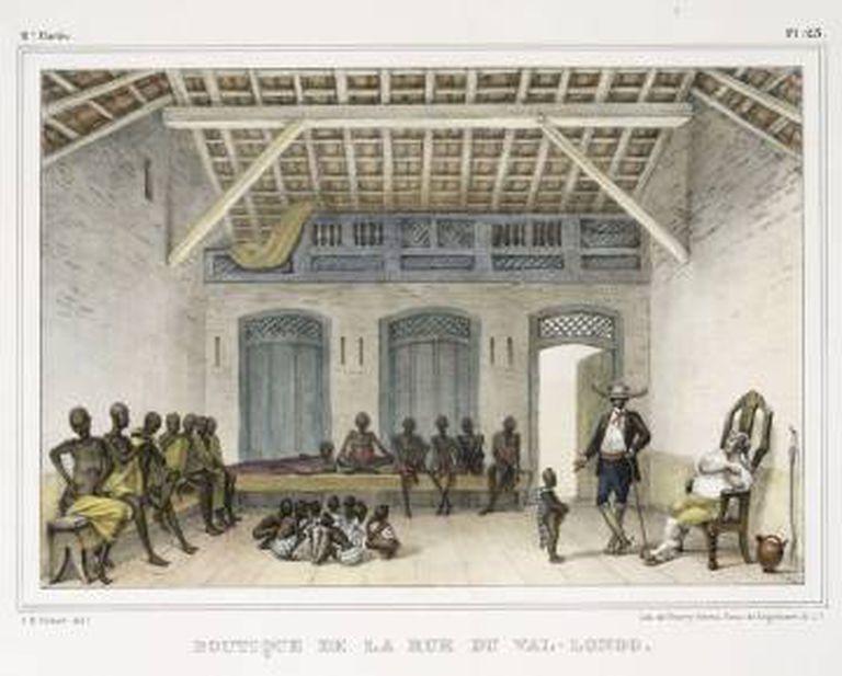 """Boutique de la rue du Val-Longo"", obra de Jean-Baptiste Debret."