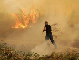 Incêndio em Portugal no domingo.