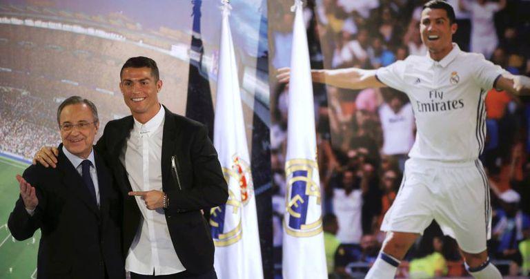 Cristiano Ronaldo e Florentino Pérez.