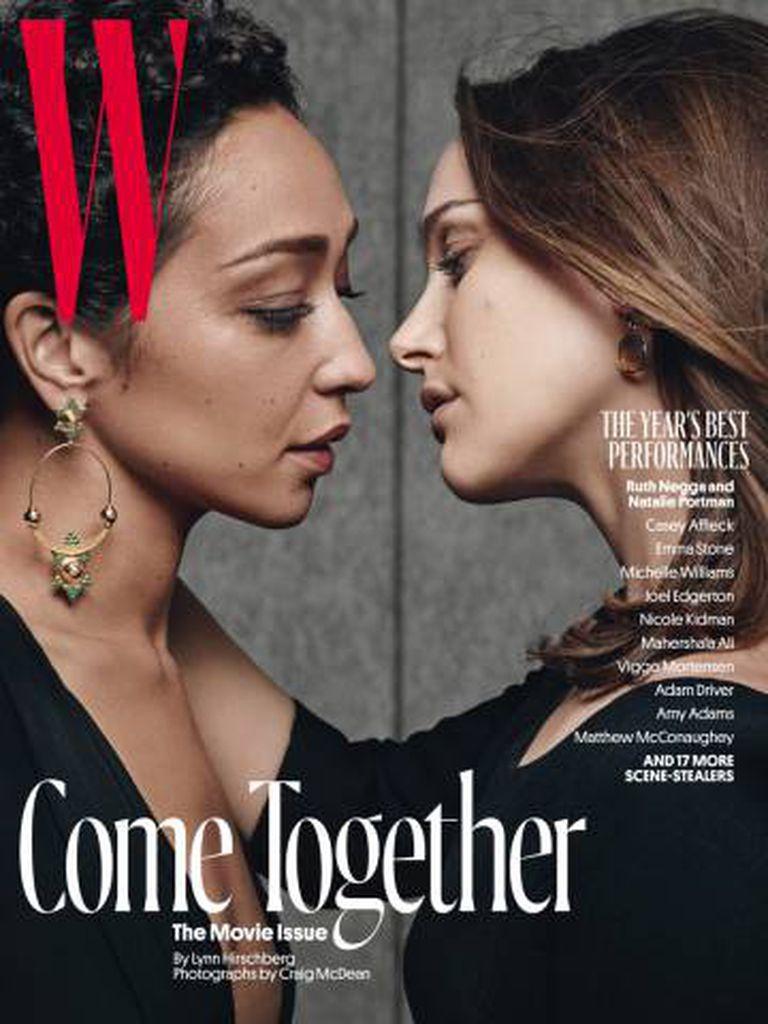Assim a revista 'W' retratou Natalie Portman e Ruth Negga em sua última capa.