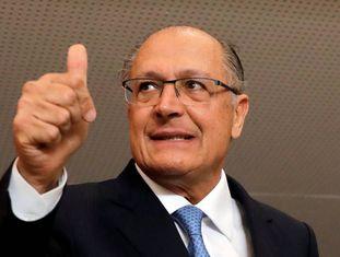 O presidenciável Geraldo Alckmin, do PSDB, em São Paulo.