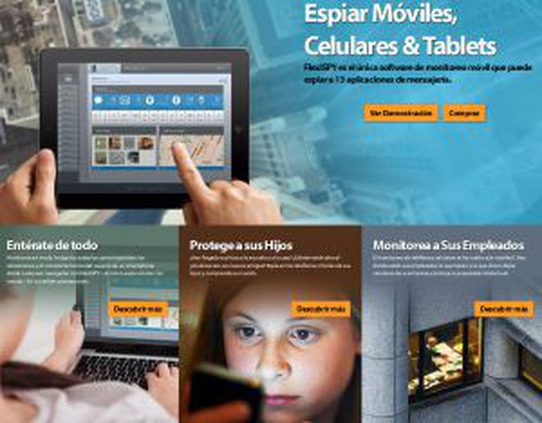 Anúncios na Internet que oferecem programas para espionar celulares