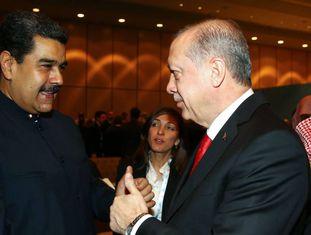 O presidente venezuelano, Nicolás Maduro, na quarta-feira com seu homólogo turco, Recep Tayyip Erdogan.