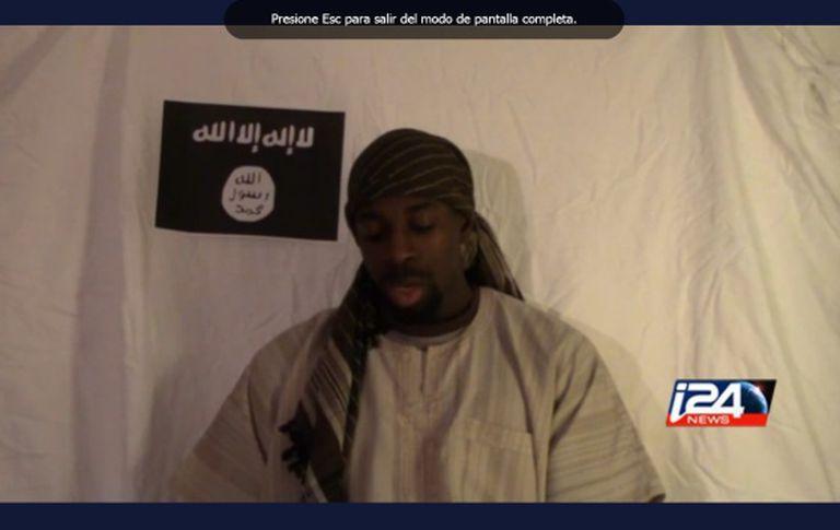Um fotograma do vídeo póstumo de Amedy Coulibaly.