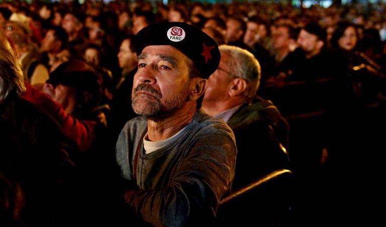 Guerrilheiros compareceram ao evento de nascimento do partido das FARC.