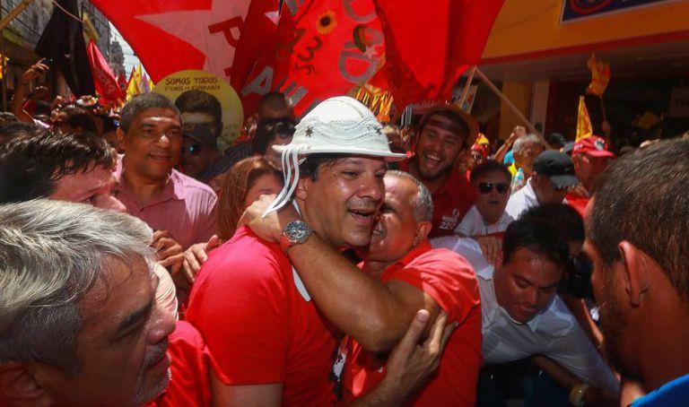 Haddad, em visita ao Recife no último sábado.