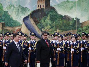 Nicolas Maduro com o seu homólogo chinês, Xi Jinping.