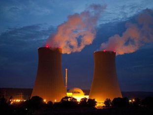 Uma usina nuclear, na Alemanha.