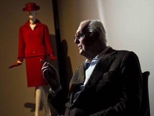 O estilista francês Hubert de Givenchy, em 2014 no Thyssen (Madri).