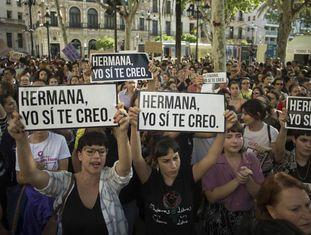Protesto contra a sentença em Sevilla