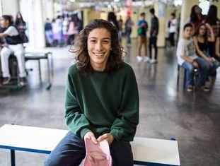 Pedro Nakagawa, de 15 anos, sempre estudou em escolas particulares, mas mudou para um colégio público neste ano.