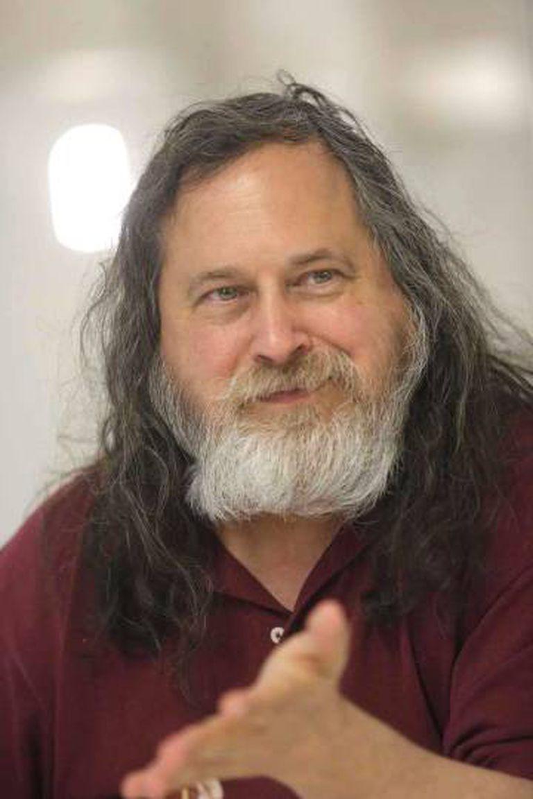 Richard Stallman, em um momento da entrevista