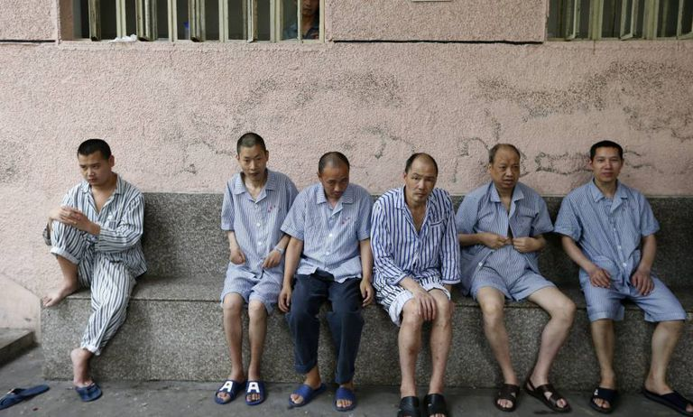 Pacientes no departamento de saúde mental de um hospital de Lishui, no Leste da China.