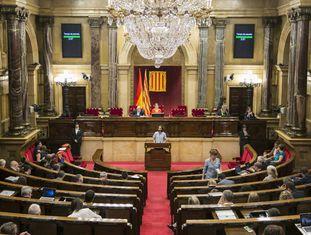 Sessão do Parlamento catalão