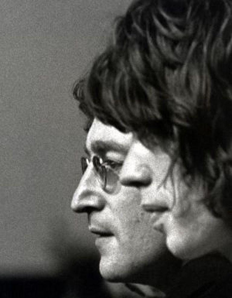 John Lennon e Mick Jagger.