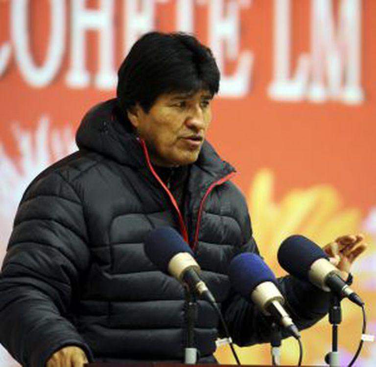 O presidente Evo Morales, no sábado passado.