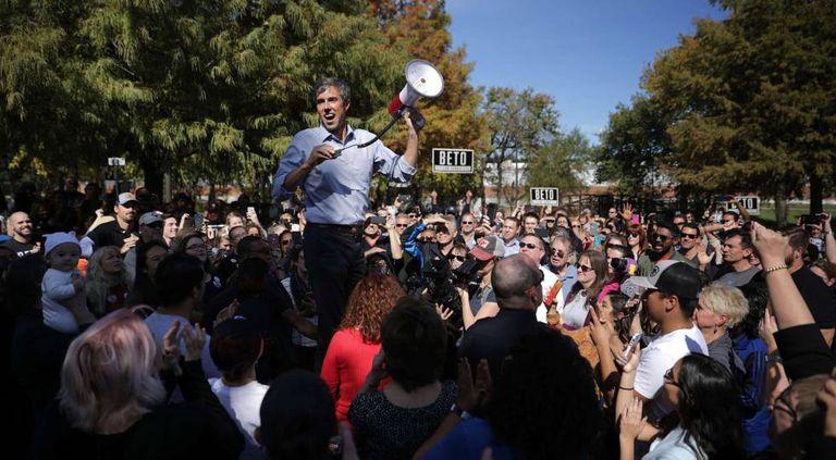 Beto O'Rourke, candidato democrata pelo Texas, na sexta-feira durante um ato de campanha na localidade de Plano.