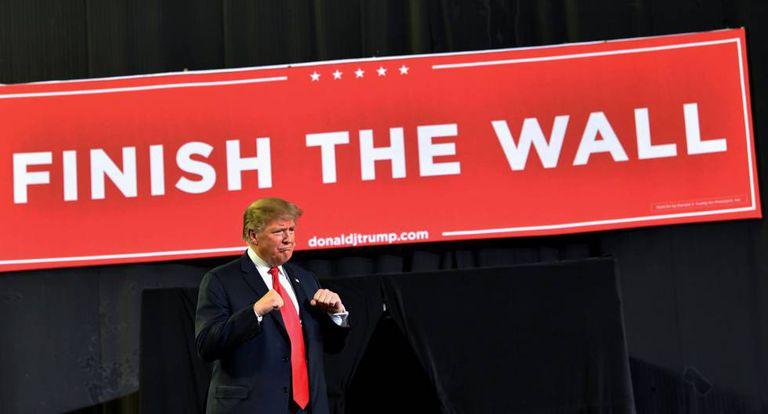 O presidente Trump, em El Paso (Texas).