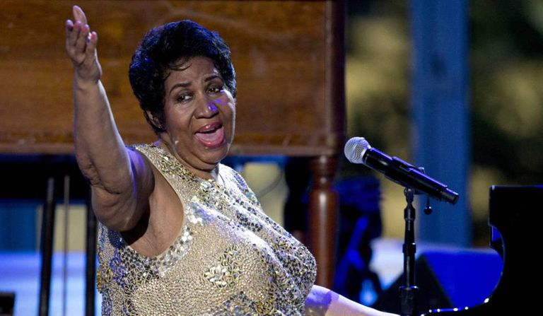 Aretha Franklin no International Jazz Day Concert, em abril de 2016.