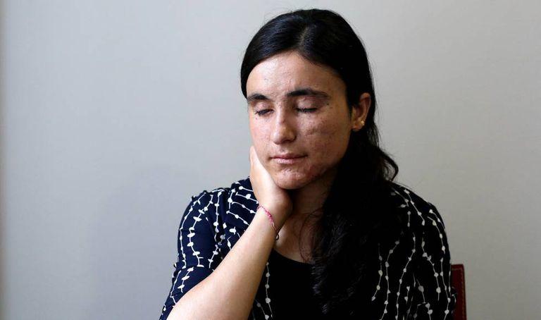 Lamia Aji Bashar, nesta quinta-feira, em Madri.