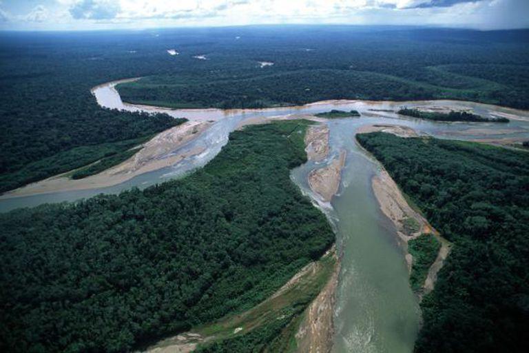 Parte da selva amazônica no Peru.