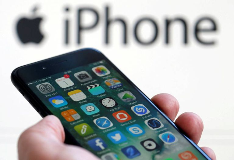 Imagem de um iPhone 7.