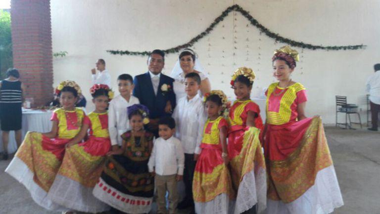 Casamento incluiu trajes típicos da região de Tehuantepec. Foto: Alma Santiago.