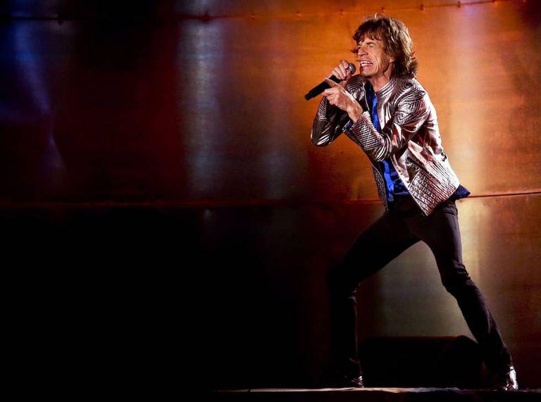 Mick Jagger, em um show dos Rolling Stones em Lisboa, em maio de 2014.