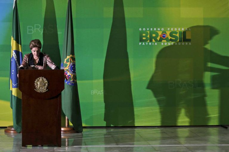 Dilma em entrevista para a imprensa internacional.