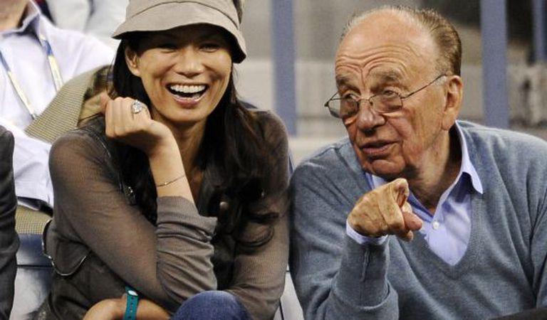Rupert Murdoch e Wendi Deng, quando ainda eram casados.