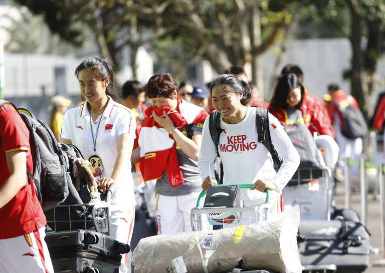 Parte da delegação chinesa já desembarcou na Vila Olímpica, no Rio.