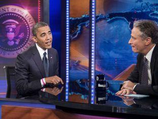 Jon Stewart entrevista Barack Obama.