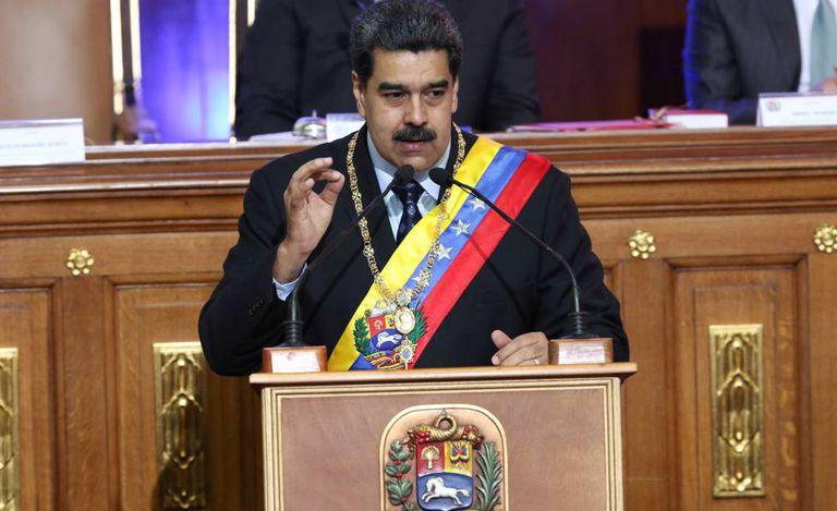 Nicolás Maduro nesta segunda-feira durante seu pronunciamento à Assembleia Nacional Constituinte.