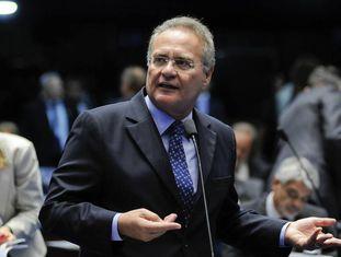Renan no plenário do Senado, no dia 7 de fevereiro.