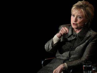 Hillary Clinton, durante sua intervenção na Cúpula Mundial das Mulheres