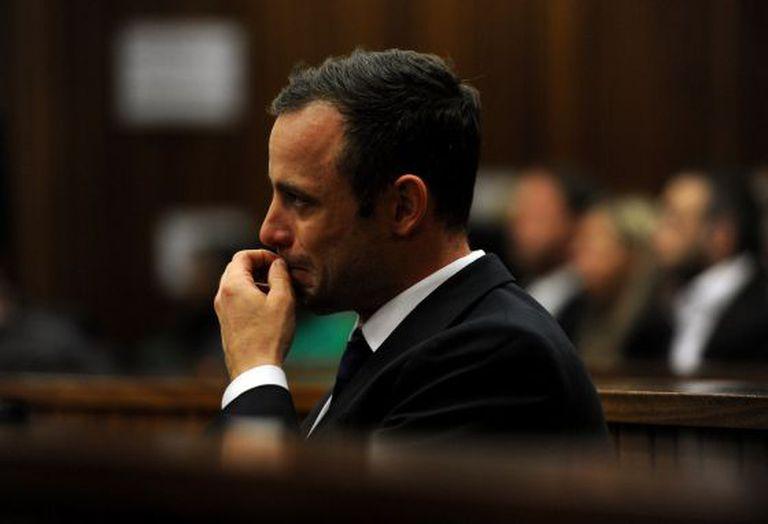 Pistorius, durante o julgamento.