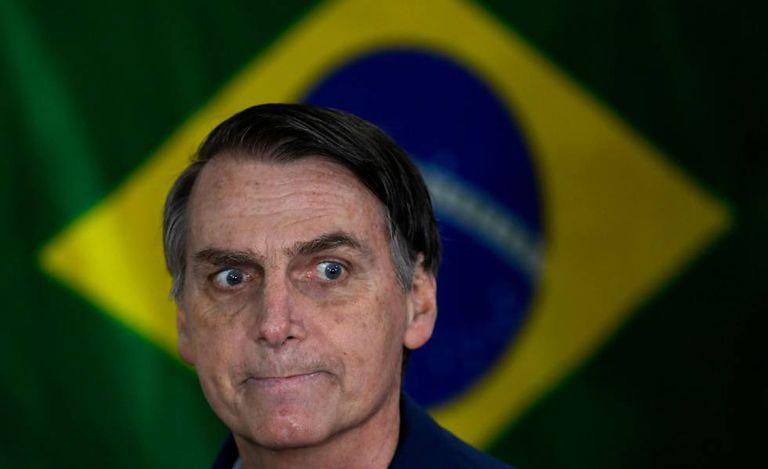 Bolsonaro durante sua campanha eleitoral, em 7 de outubro de 2018, no Rio de Janeiro