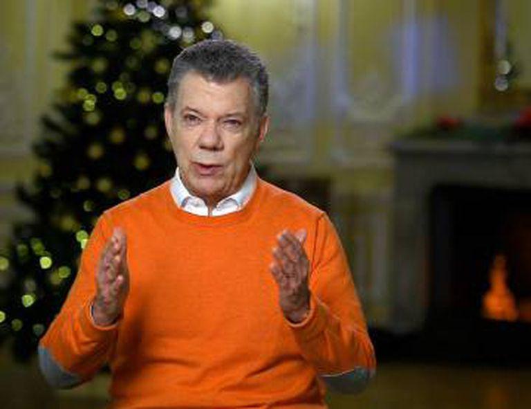 O presidente de Colômbia, Juan Manuel Santos.