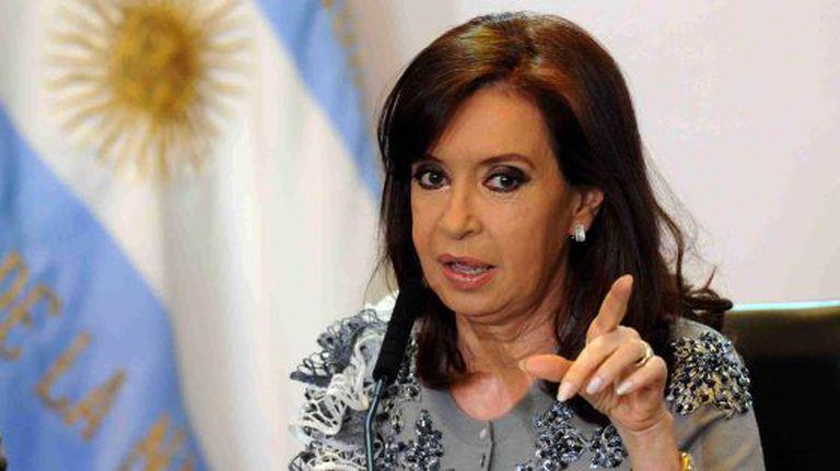 Cristina Fernández de Kirchner, presidenta de Argentina.